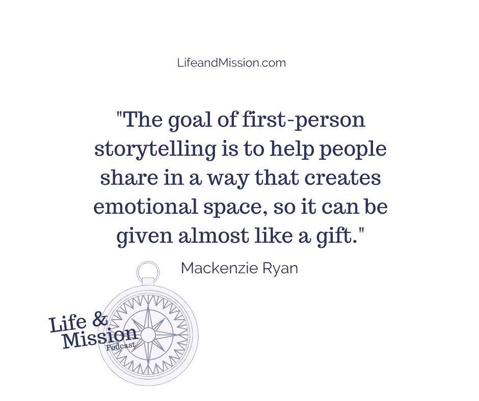 First person storytelling is like a gift.